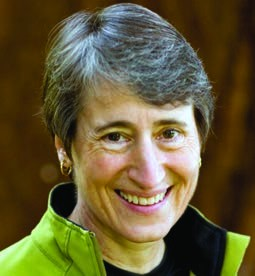 President Barach Obama's Secretary of Interior, Sally Jewell, a Democrat.